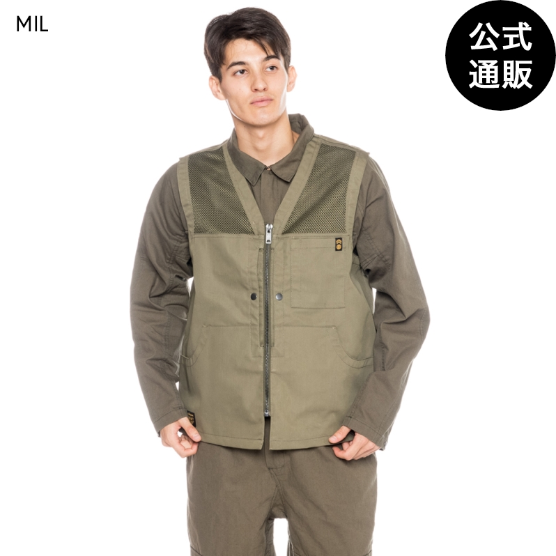 【OUTLET】【送料無料】2019 エレメント メンズ 【NIGEL CABOURN】 THE ALDER HUNTING VEST ハンティングベスト 全1色 XS/S/M/L/XL ELEMENT