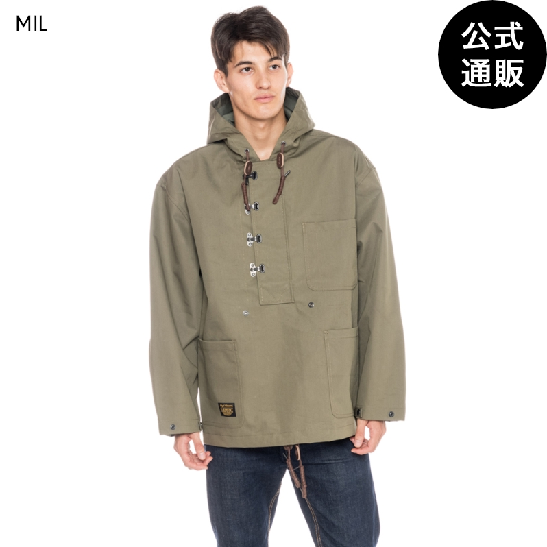 【OUTLET】【送料無料】2019 エレメント メンズ 【NIGEL CABOURN】 THE BARROW MILITARY SMOCK スモックジャケット 全1色 XS/S/M/L/XL ELEMENT