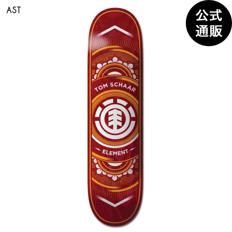 【送料無料】ELEMENT スケートボード SCHAAR TROJAN デッキ 7.5