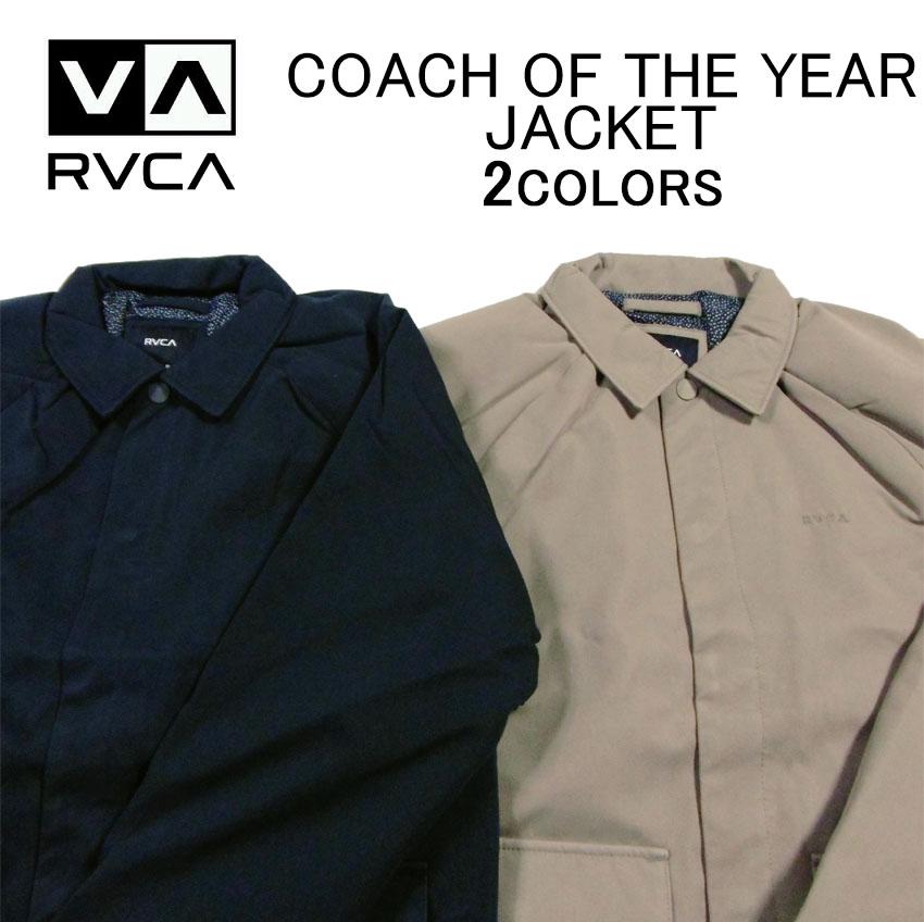 ルカ/ルーカ アウター・ジャケット RVCA COACH OF THE YEAR JACKETコーチジャケット・耐水ナイロンジャケット・ジャンパー・ブルゾン・メンズ(男性用)(S M L XL XXL サイズ)M707QRCY