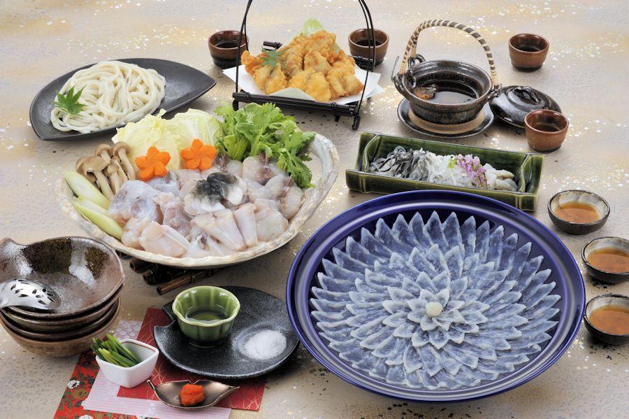 ふぐ料理にぎわいフルコースセット(4人前)(送料込)