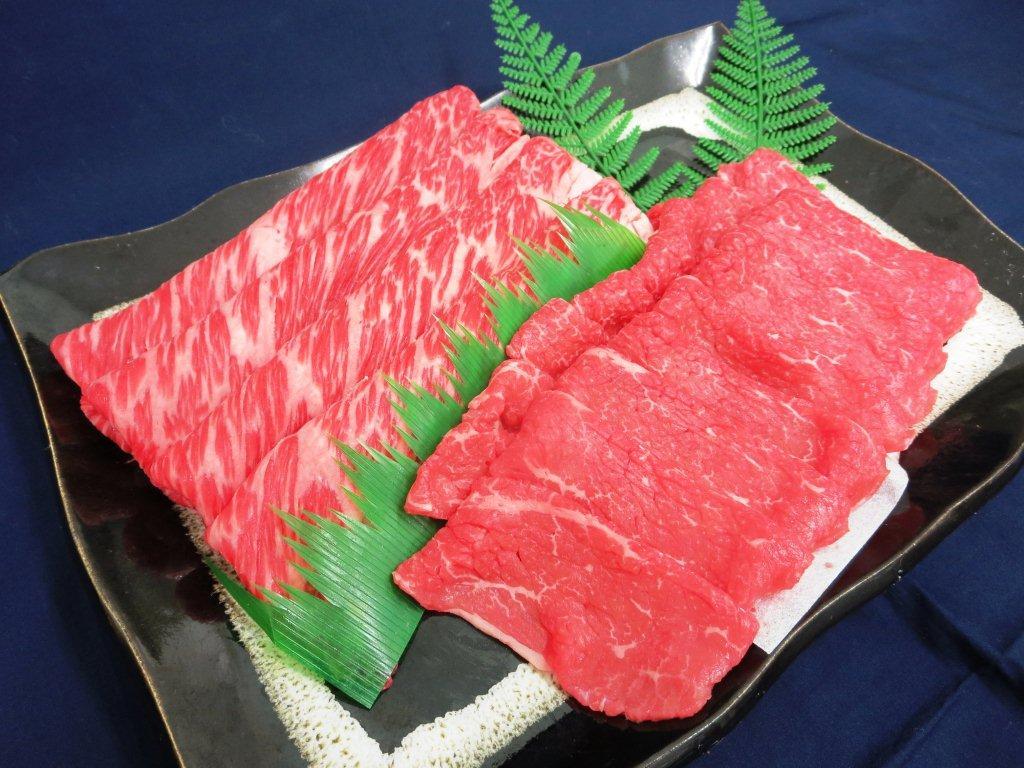 「甲州ワインビーフ(すき焼き肉セット500g)」(カタロース250g・モモ250g)(送料込)