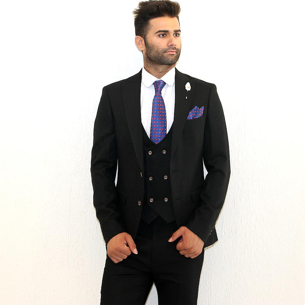 テーラードジャケット セットアップ 黒 ブレザー ジレ メンズ ピークドラペル サイドベンツ S~XXXL 大きいサイズも入荷 秋冬春 ジャケパン ビジネスジャケット 結婚式 2次会