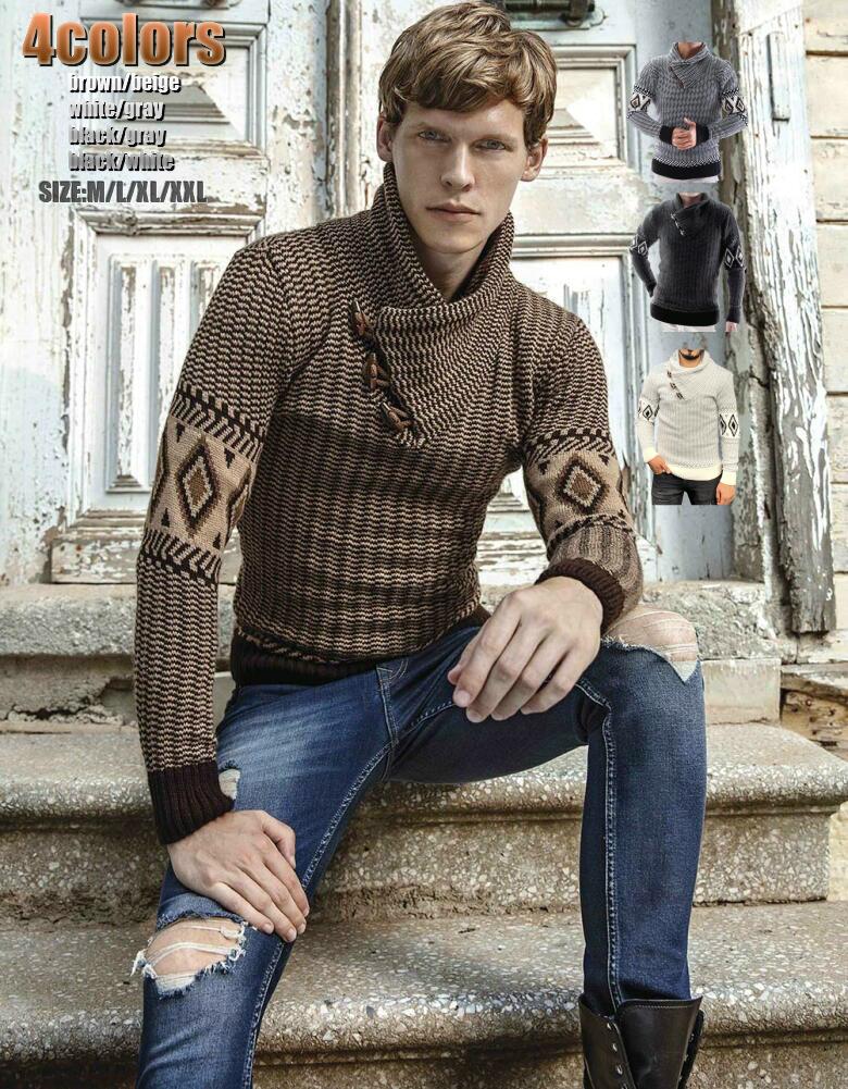 手編みの様なデザイン ローゲージニット セーター ハイネック 人気 おすすめ 黒グレーベージュ 大きいサイズも入荷 ●スーパーSALE● セール期間限定 厚手 メンズ