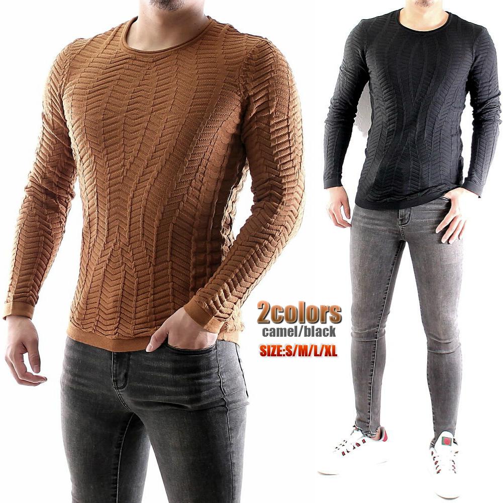 ニット セーター メンズ クルーネック 薄地/薄手 大きいサイズも入荷 秋冬春 コットン