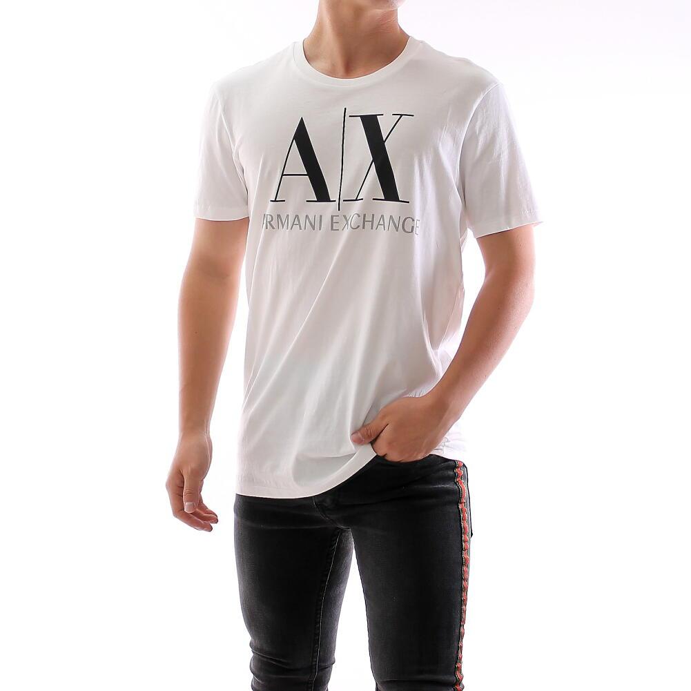 ARMANI EXCHANGE アルマーニ エクスチェンジ Tシャツ メンズ ロゴ 丸首 クルーネック 白 ホワイト Mサイズ 父の日 プレゼント