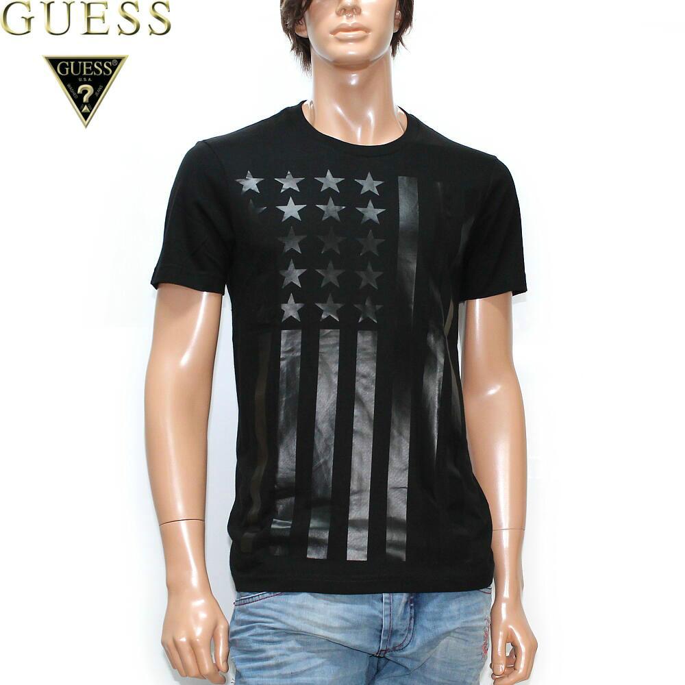 GUESS(게스) T셔츠 맨즈흑