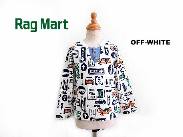 Rag 即納最大半額 Mart rag 流行 mart ラグマート SALE RAG 110cm:2111608 MART 総柄プリントロングスリーブTシャツ:100cm 2021春夏 30%OFF