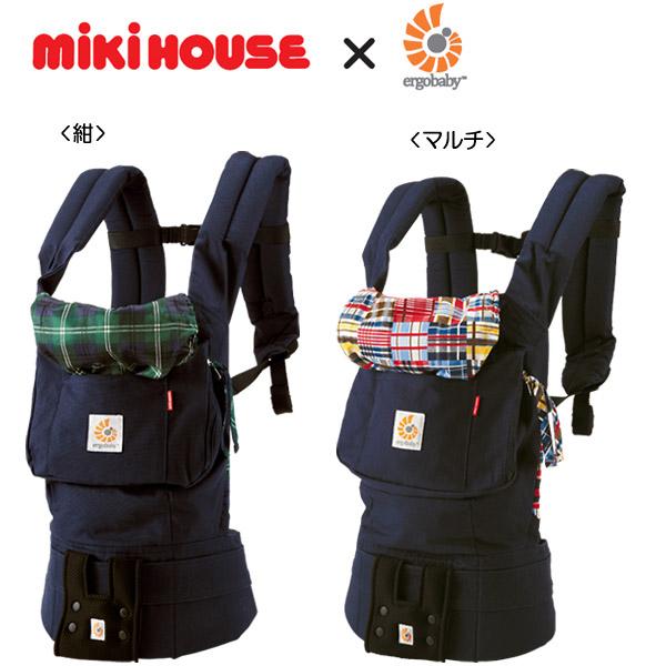 MIKIHOUSE ミキハウス  【【箱付】ミキハウス×エルゴベビーコラボ『ベビーキャリア』(チェック):45-6032-976