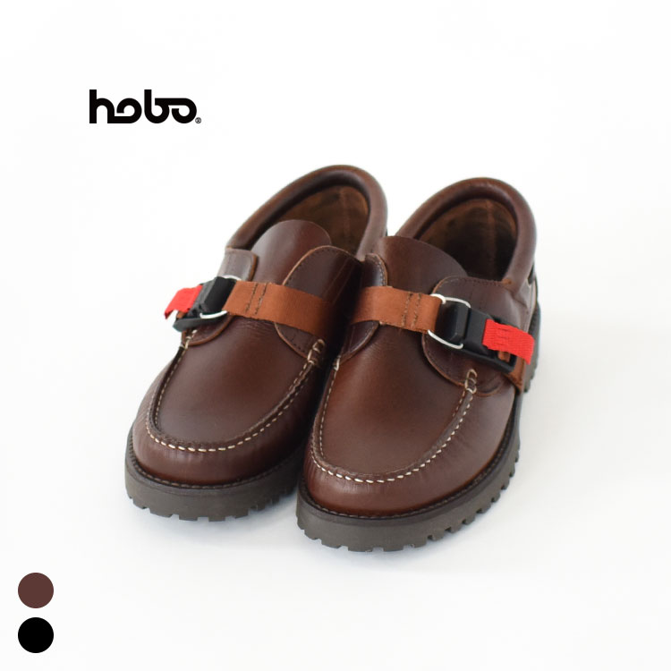 hobo(ホーボー)/COW LEATHER DECK SHOES with FIDLOCK BUCKLE/メンズ/hobo 通販/hobo シューズ/hobo 靴/hobo 20ss【2020春夏】