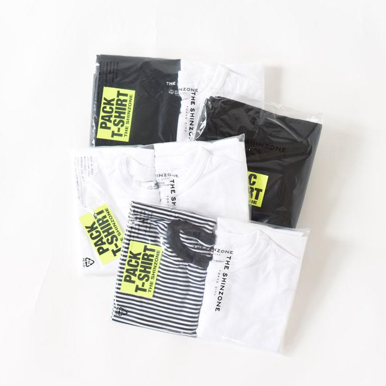 【MIX・WHITEのみ予約受付中】【8月中~下旬頃入荷予定】THE SHINZONE(ザ シンゾーン)/PACK TEE パックTシャツ/レディース/ザ シンゾーン Tシャツ/shinzone カットソー/シンゾーン パックTシャツ/シンゾーン 通販【2020春夏】【予約キャンセル不可】