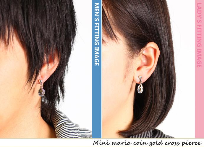 Minimal A Coin Gd Cross Drop Earrings Silver Jewelry Earring Men S Fs3gm