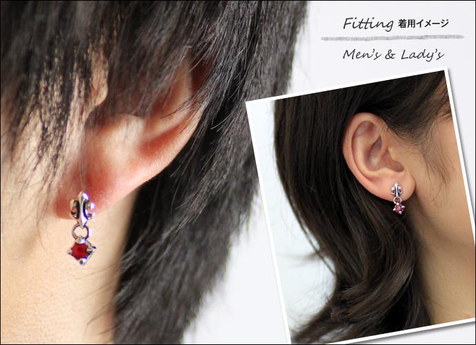 Zirconiareleaflea Drop Earrings Redzirconia Silver Jewelry Earring Men S Fs3gm