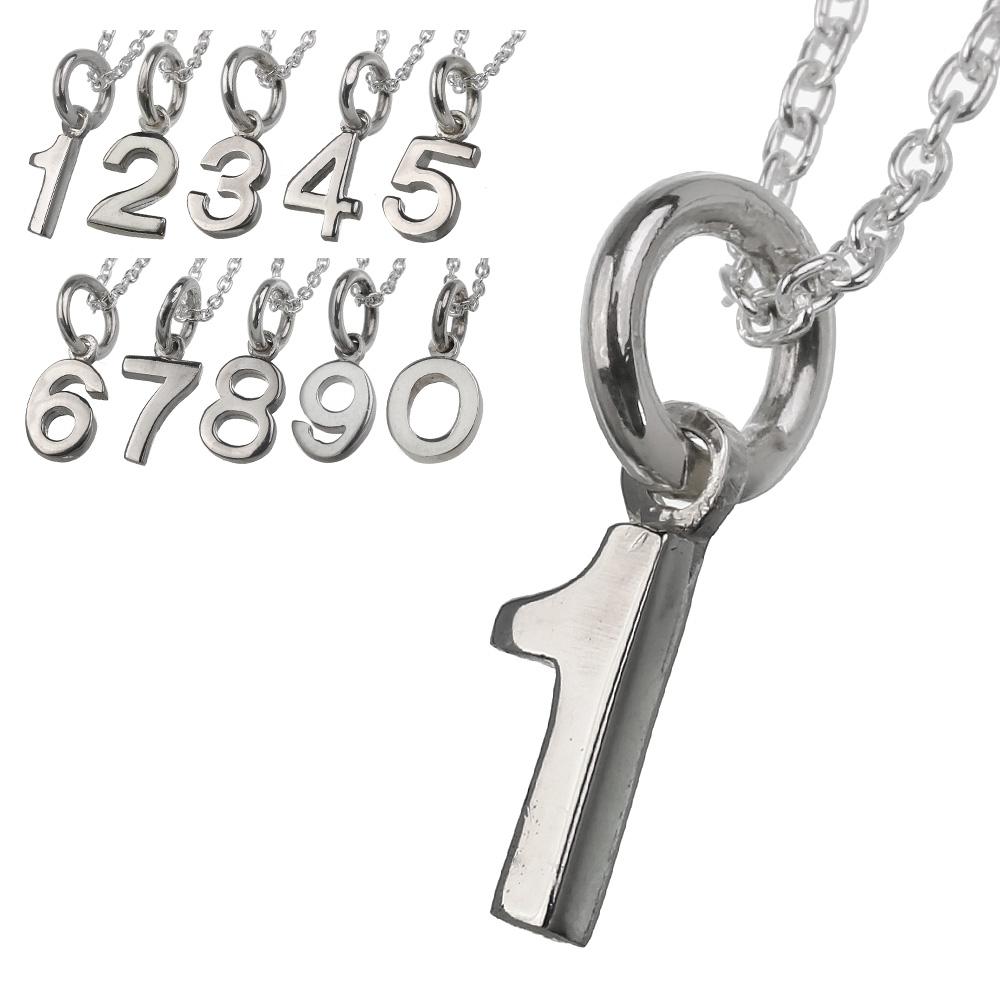 c85102f72f プレーンナンバーペンダント(トップのみ)シルバーアクセサリーペアメンズレディース数字[シルバーペンダント