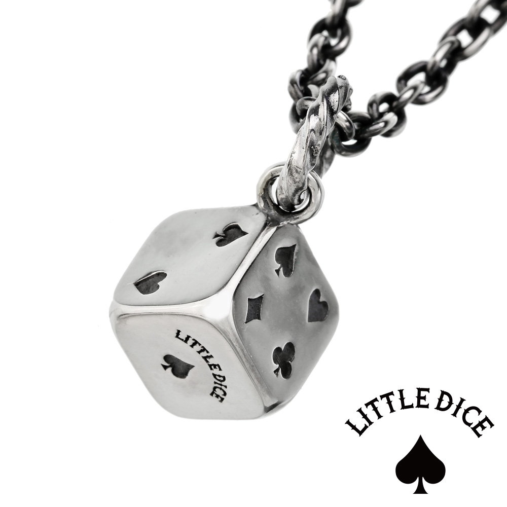LITTLE DICE(リトルダイス) ネックレス メンズ ブランド リトル トランプ ダイス ペンダント シルバー925 アクセサリー サイコロ [シルバーペンダント]