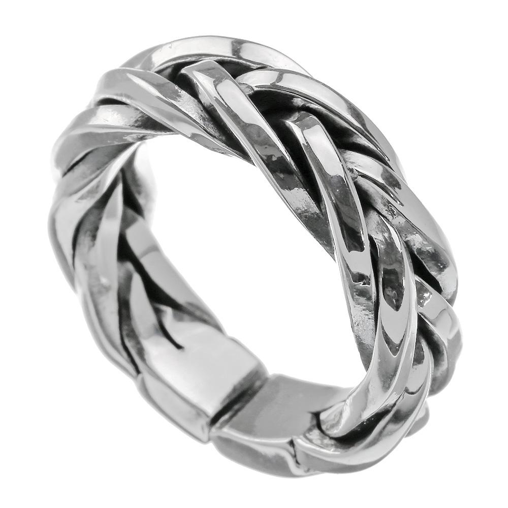 \10%OFF NEW YEAR SALE/Binich(ビニッチ) スネーク メッシュ リング メンズ 指輪 メンズ シルバー925 アクセサリー 編み込み[シルバーリング]