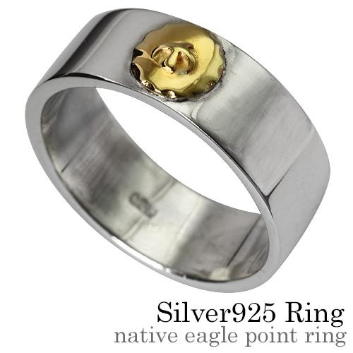 Binich(ビニッチ) ネイティブイーグルポイントリング メンズ 指輪 メンズ インディアンジュエリー系 シルバー925 アクセサリー[シルバーリング]