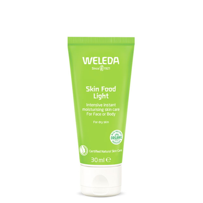 お肌にすっとなじむライトなテクスチャーの乾燥肌用集中ケアクリーム スキンフード ライト 30mL weleda 国内正規品 引き出物 乾燥用クリーム 倉庫