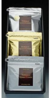格安激安 奥深いコーヒーの味わいハワイコナコーヒー ハワイコナコーヒー HQCギフトセットF 200g 3種詰合せ 感動セット coffee 卸売り 贈り物 お歳暮 コーヒー お中元 ギフト