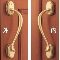 玄関ドア バーハンドル 交換YKK 玄関ドア ハンドル プッシュプルハンドルクリープタイプ 左勝手(HH4K13872)