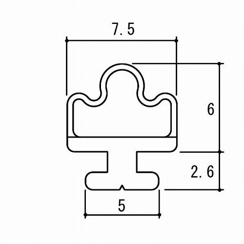 三協アルミ 最安値挑戦 浴室ドア 送料無料お手入れ要らず 補修部品 ゴムパッキン 折れ戸 気密材 PH2549