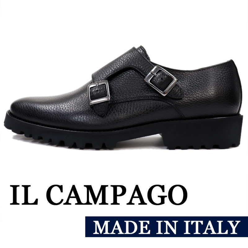 bios | Rakuten Global Market: Double Monk strap shoes men << casual leather shoes genuine leather gentleman shoes black business shoes >> 35000 made in IL CAMPAGO Italy brand << イルカンパゴ >> Italy