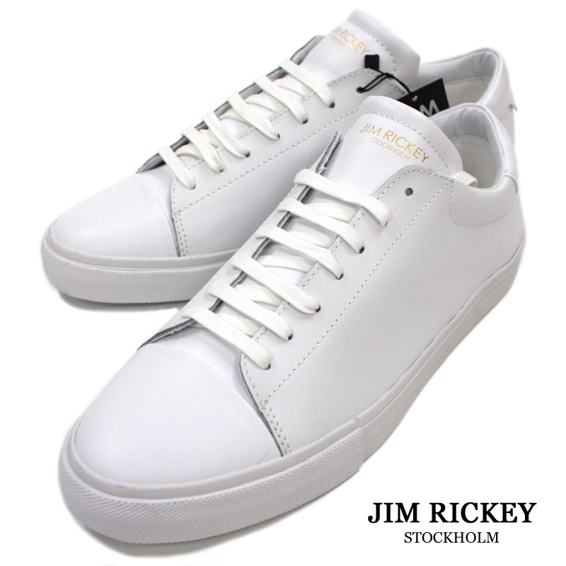 b0c3afcfe2a07 TheShopBIOS  White leather sneakers men  lt  lt  genuine leather sneakers  white CAPPIE  gt  gt  12500 made in Swedish brand JIM RICKEY  lt  lt  ...