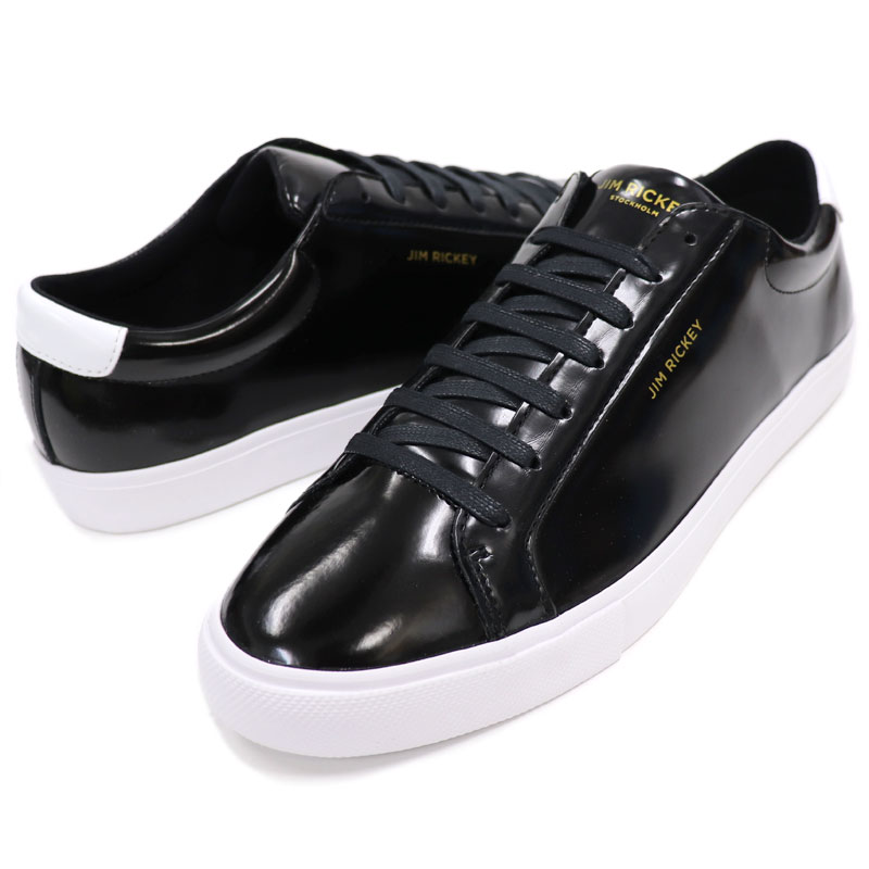 JIM RICKEY    gym rickey    Sweden brand enamel processing patent leather  sneakers men    genuine leather sneakers black CHOP    12500 bb389f00d5b