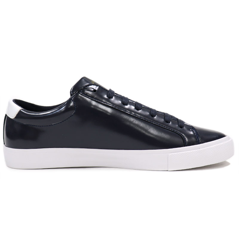 JIM RICKEY    gym rickey    Sweden brand enamel processing patent leather  sneakers men    genuine leather sneakers navy dark blue CHOP    12500 0ccbf76c836