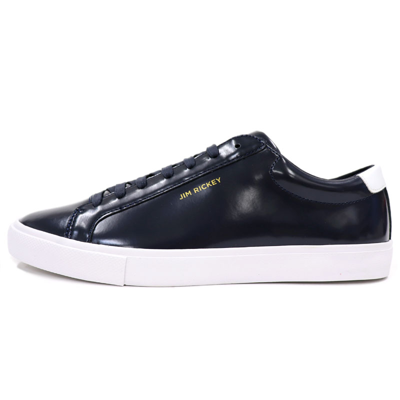 TheShopBIOS  JIM RICKEY  lt  lt  gym rickey  gt  gt  Sweden brand enamel  processing patent leather sneakers men  lt  lt  genuine leather sneakers  navy dark ... 582777d4c04