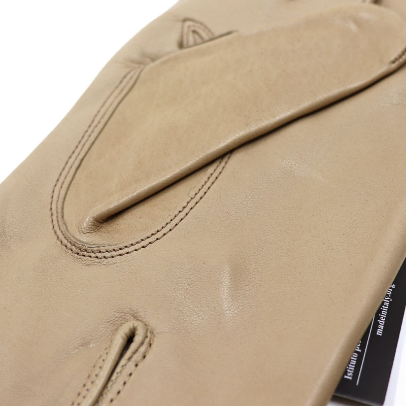721953c8c972a ... Leather glove men genuine leather gloves Napa leather << beige  cashmere lining > ...