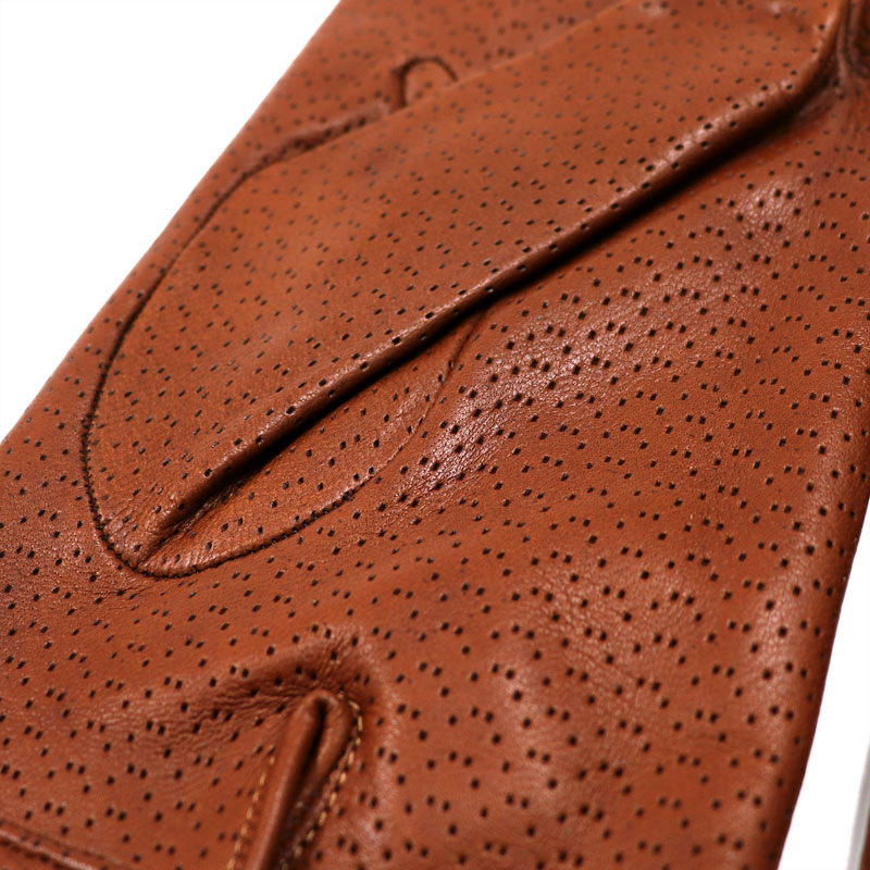 144d71135d75a ... Punching leather glove men genuine leather gloves Napa leather <<  tongue brown cashmere ...