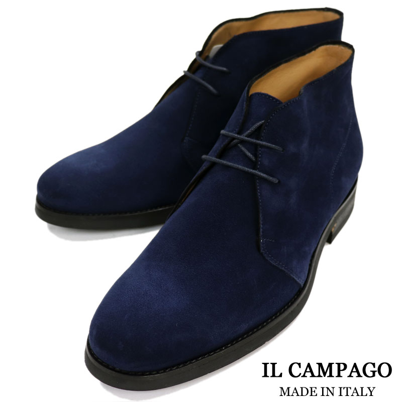 264cd05d80bb7 Suede chukka boots men race up boots << leather shoes genuine leather  gentleman shoes rubber sole black navy >> made in IL CAMPAGO Italy brand <<  ...