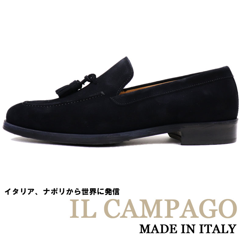 28b2a1c5b4 Tassel slip-on shoes men Italy brand suede shoes    business shoes casual  shoes leather shoes genuine leather gentleman shoes navy dark blue    made  in IL ...