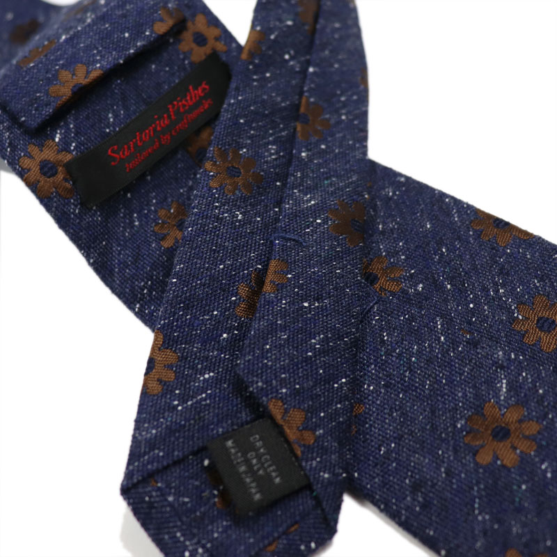 bf4f274435665b It is 8800 SartoriaPisthes tie men handmade 100% silk tie silk NEP floral  design    business work navy dark blue gold made in Japan       targeted  for two ...