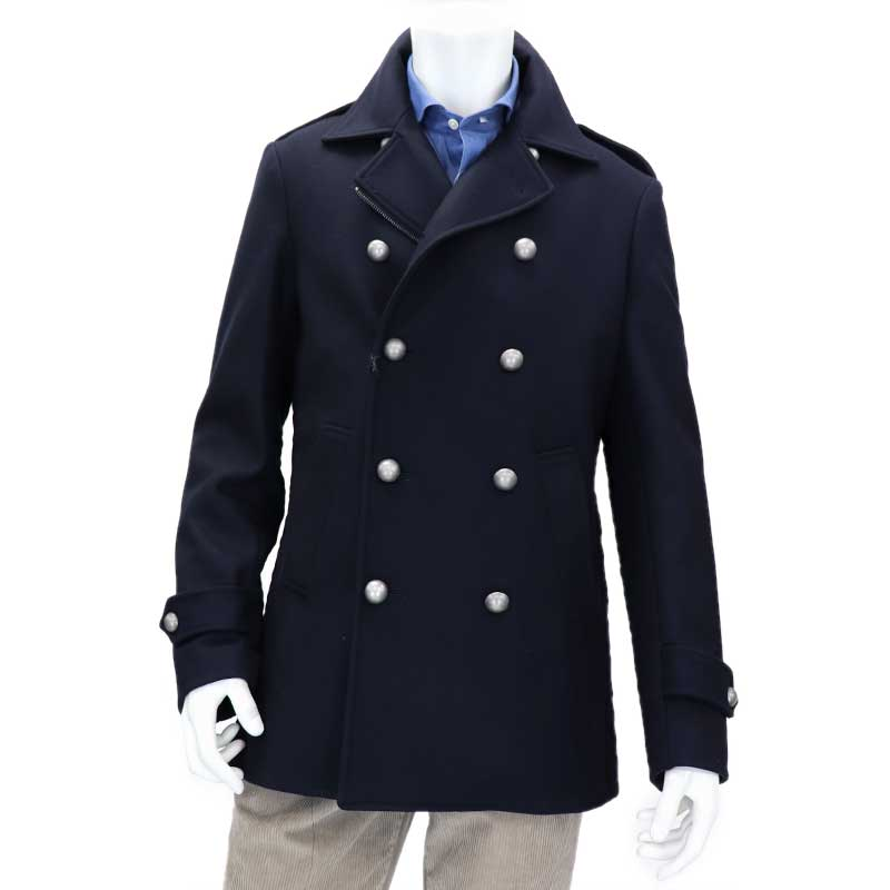 8539cbd70b2d7 2018 Wholesale Gothic Those Days Clothing British Winter Slim Fit Navy Blue  Blazer Wool Mens Pea Coat Trench Long Jackets Coats For Men