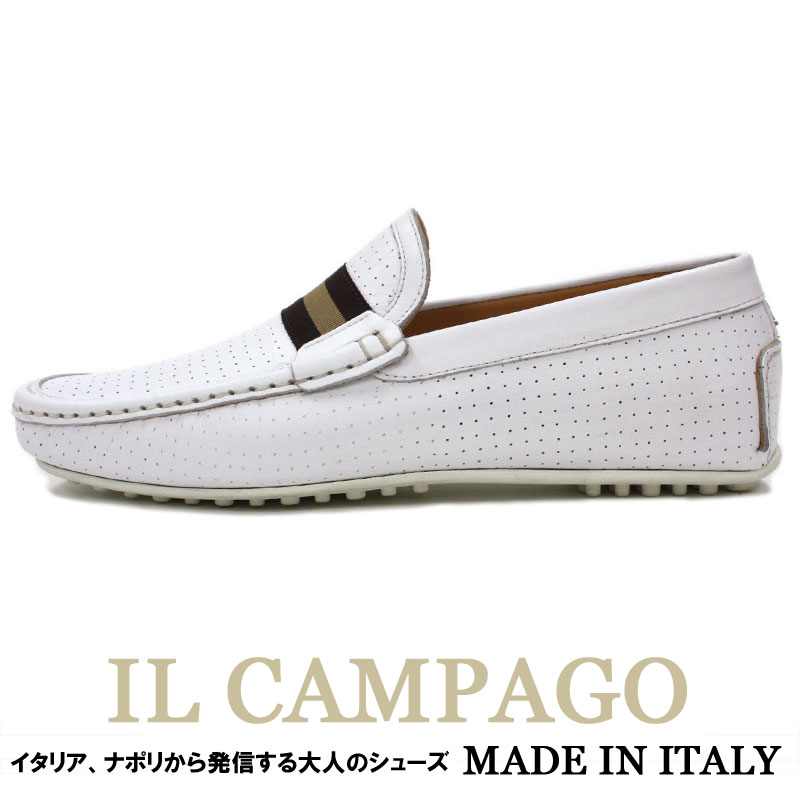 Theshopbios Driving Shoes Punching Leather Shoes Men White Lt Lt
