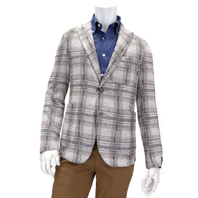 e69a897881b Natural stretch summer knit jacket men << model casual jacket served with  one piece in the spring and summer >> 45000WRB made in Italian brand  Barbati Baru ...