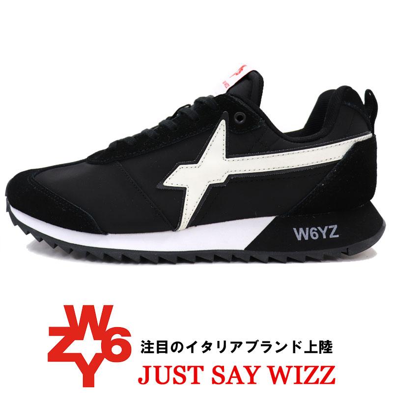 W6YZ ≪ウィズ≫ JUST SAY WIZZ ≪ジャストセイウィズ≫ イタリアブランド スニーカー メンズ ≪スエード x ナイロン スニーカー ブラック 黒≫【送料無料】25000womk