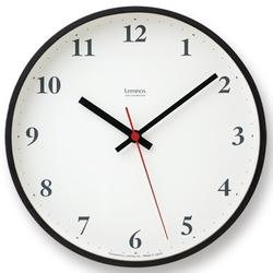 【最大20倍ポイントUP中】定番となったプライウッドシリーズ【LC05-02の電波時計バージョン。ブラウン。【Lemnos (レムノス) Plywood clock 電波時計 ブラウン (LC10-21W BW)】