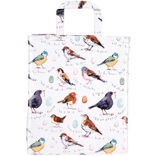 英国直輸入☆小鳥のブックバッグA~PVCミディアムガセット【Bird Song】by ULSTER WEAVERS