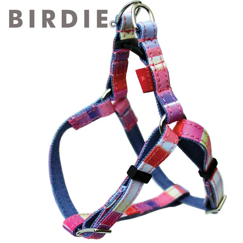 【BIRDIE(バーディ)超小型犬ワンタッチバックル足入れ胴輪】マルチボーダーハーネス sizeSS