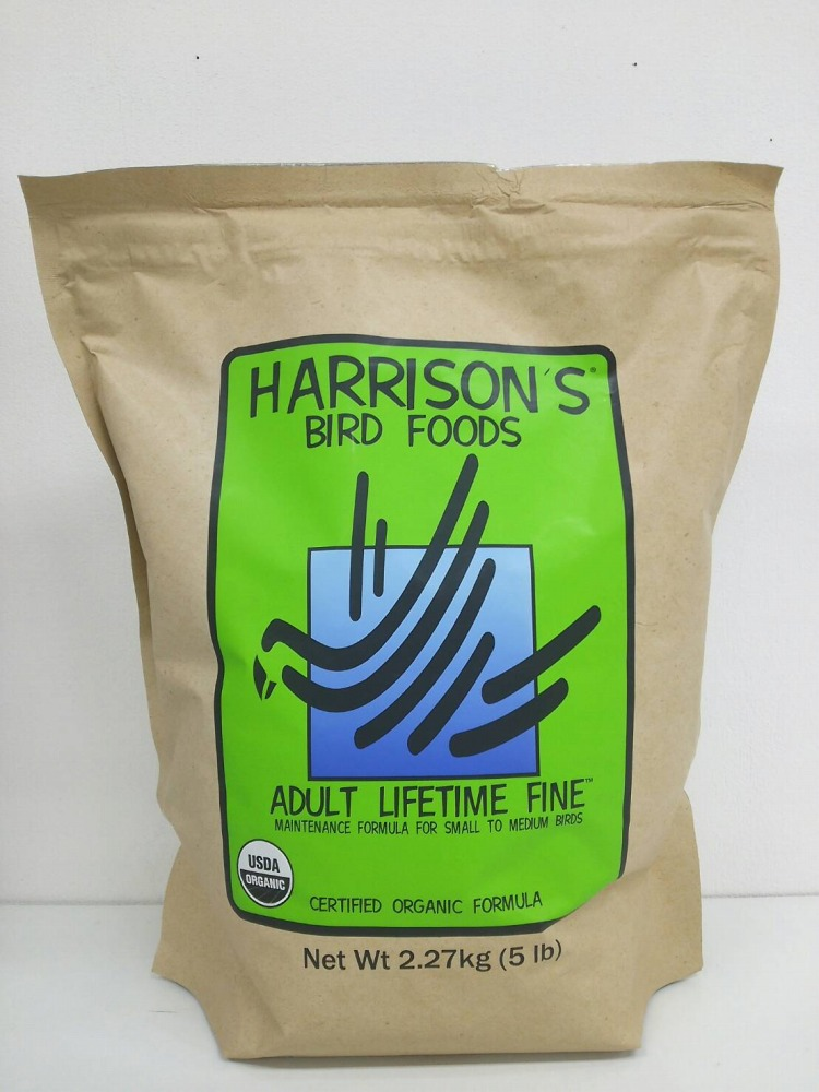 ハリソン / アダルトライフタイム ファイン 小粒 2.27kg / Harrison ADULT LIFETIME FINE 5 lb ( 鳥 とり トリ ペット 餌 えさ エサ ペレット フード ごはん インコ オウム )