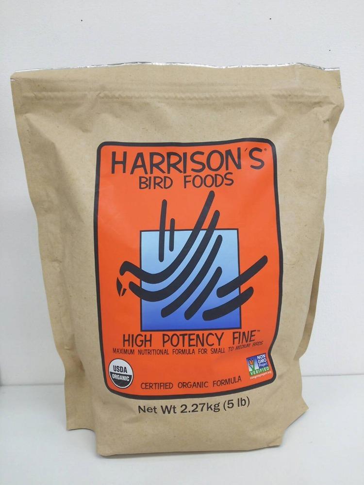 ハリソン ハイポテンシー ファイン 小粒 2.27kg Harrison HIGH POTENCY 贈り物 FINE 5 lb BIRDMORE バードモア 餌 フード エサ トリ インコ オーガニック えさ 鳥 とり 送料無料カード決済可能 オウム ごはん ペット ペレット