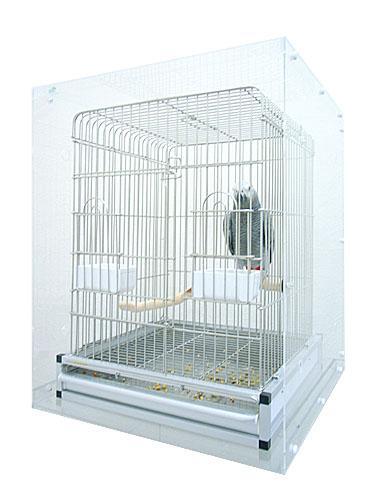 465オウム用 / アクリルケージケース SLIM 扉なし XL ( 外寸:高 726mm × 幅 550mm × 奥 550mm ) [ バードモア 鳥 インコ オウム 鳥かご ケージ 防塵 保温 防音 アクリル アクリルケース 分解 組立 ] / 9991525 ケージ等は含まれておりません。※日時指定不可