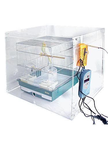 465オウム用 / アクリルケージケース WIDE 折り畳み式 扉あり XL ( 外寸:高 762mm × 幅 700mm × 奥 550mm ) / 9992176 バードモア 鳥 インコ オウム 鳥かご ケージ 防塵 保温 防音 分解 組立 可能 / ケージ等は含まれておりません。 ※日時指定不可となります。