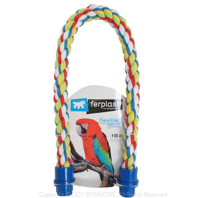 祝開店大放出セール開催中 ferplast コットンパーチS ブルー 9998082BIRDMORE バードモア 鳥用品 鳥グッズ 雑貨 楽しい とり 素材 鳥 面白い 自然 おもちゃ 美品