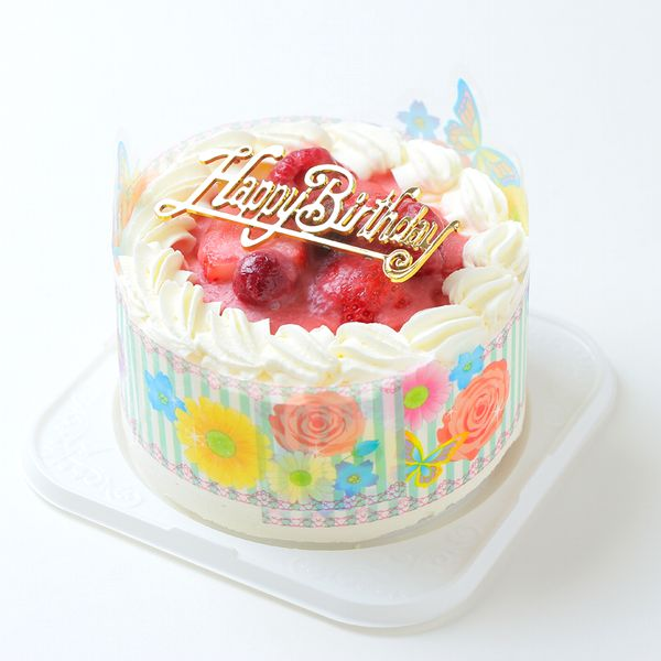 4 12 Cm Diameter Strawberry Bunk With Sand Birthday Cakes Hokkaido Cream 100 Ornament Candle Small Bag Six Party Cracker Gifts Postcards
