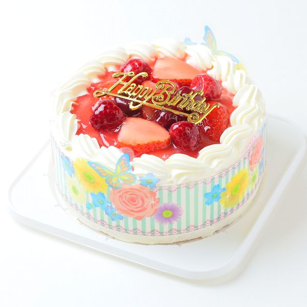Whipped Cream Strawberry Decorated No 7 Hokkaido Pure 100 2 Sand Wheat Gold Birthday Ornament Candle Six Small Bag With