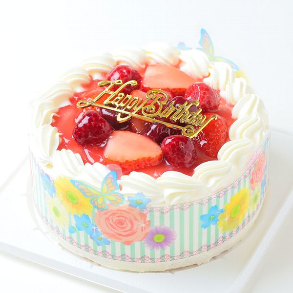 Cream Strawberry Decorations 8 Hokkaido Pure 100 2 Stage With Sand Wheat Gold Birthday Ornament Candle Small Bag 6 Book